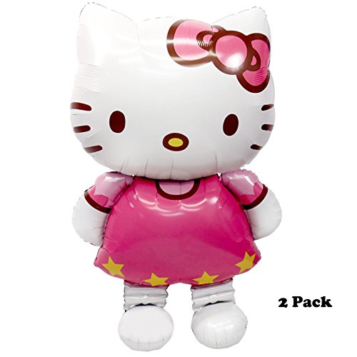 Pawliss-Hello-Kitty-Airwalker-Foil-Mylar-Balloon-Party-Decoration-45-Large-Size-2-Pack