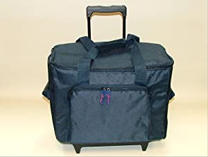 Brand New Navy Sewing Machine Premium Trolley Case Bag