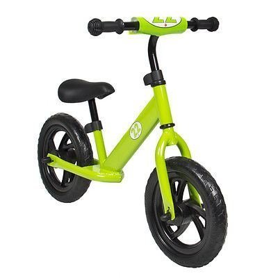 Childrens-Balance-Bike-Running-No-Pedal-Girls-Boys-Ride-Push-Bicycle-Green