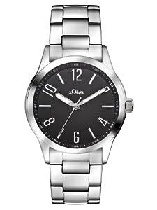 s.Oliver Damen-Armbanduhr XS Analog Quarz Edelstahl SO-2780-MQ