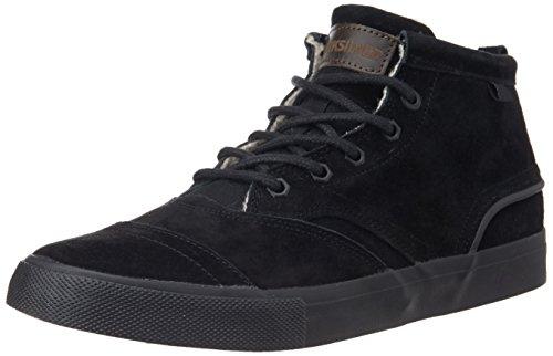 Quiksilver AQYS300013-SBKM  HEYDEN FG M, Sneaker alta uomo, Nero (Schwarz (SBKM  SOLID BLACK)), 39
