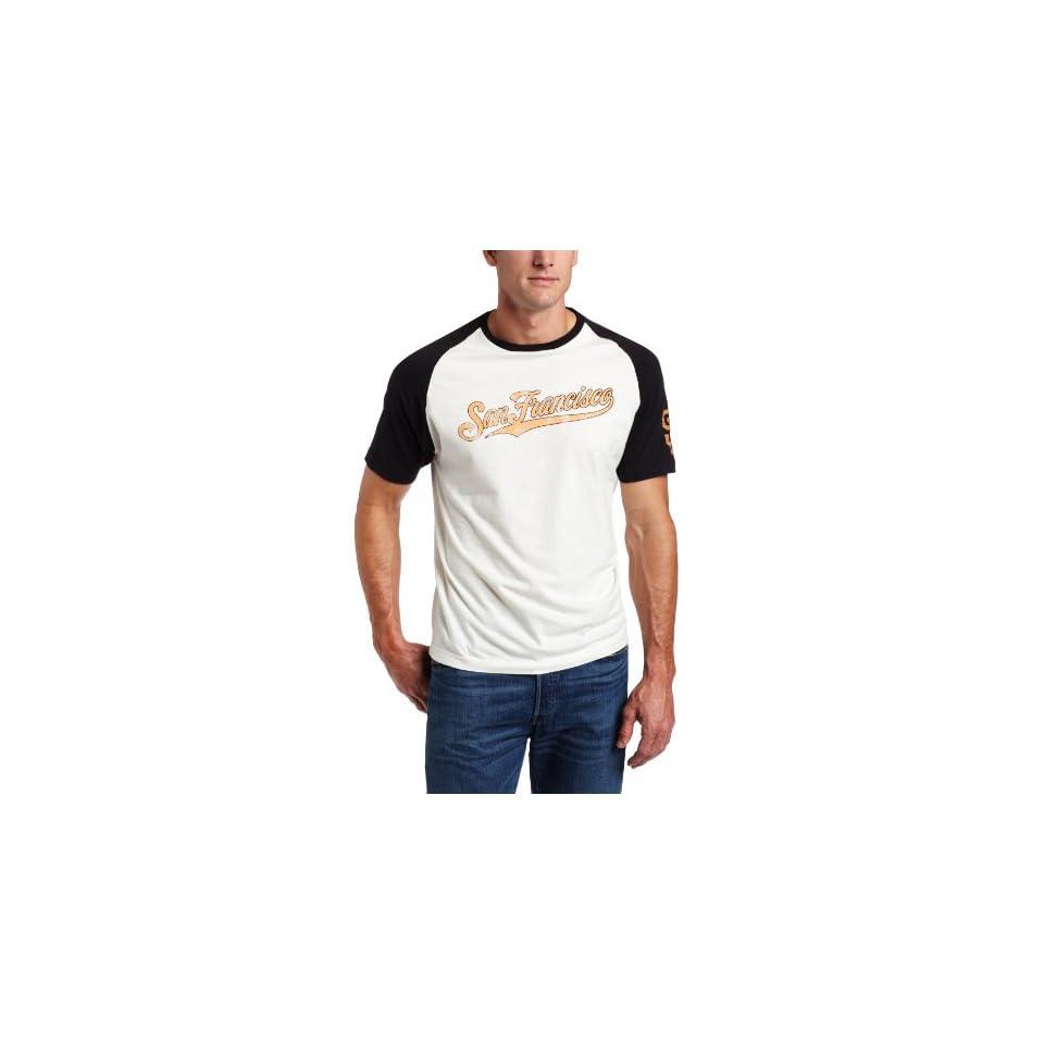 MLB San Francisco Giants Allie Short Sleeve Tee, Cream/Black, Small