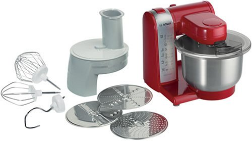 Bosch MUM46R1 Multifunctional Food Processor Mixer 550W Red by Bosch