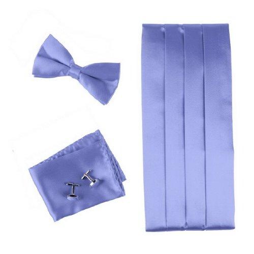 CM1004 Blue Wedding Silk pre-tied Bow Tie and Cummerbund Set for Men By Epoint