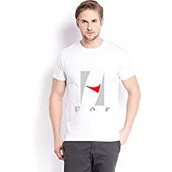 Trendster H Letter Printed Cotton White T Shirt