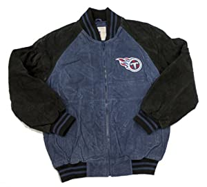 NFL Officially Licensed Tennessee Titans Embroidered Suede Winter Jacket Coat by NFL