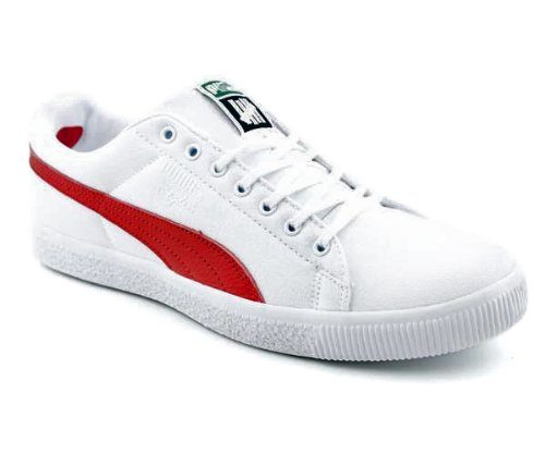 Puma Unisex CLYDE X UNDFTD CNVS Shoes (14, White/Ribbon Red)