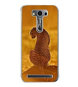 Cheetah 2D Hard Polycarbonate Designer Back Case Cover for Asus Zenfone 2 Laser ZE550KL (5.5 INCHES)