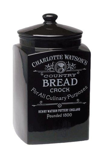 Charlotte Watson Bread Crock - Black