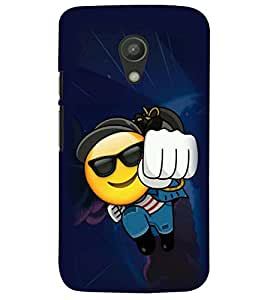printtech Smiley Face Back Case Cover for Motorola Moto G2 X1068::Motorola Moto G (2nd Gen)