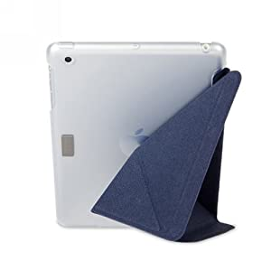Moshi iGlaze VersaCover Origami Case with Wake/Sleep Function for iPad Mini (Denim Blue)