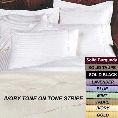 Marrikas 600Tc Egyptian Cotton King Sheet Set & Duvet Cover Set Combo Ivory front-1006901