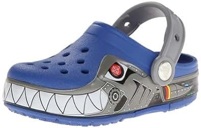 Crocs Lights Robo Shark Ps, Sabots garon - Bleu (Sea Blue),  EU 24-25 (C8)