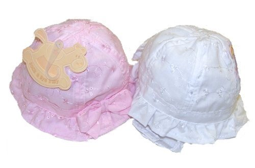 Rock A Bye Baby Girls Brodiery Anglaise Sun Hats With Strap