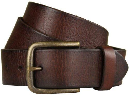 "Belts.com JT Vintage Genuine Full-Grain Casual Jean Leather Belt 1 1/2"" wide-32-Dark Brown"