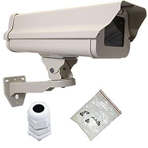 VENTECH Outdoor Weatherproof Heavy Duty Aluminum CCTV Security Surveillance Camera Housing Mount Enclosure with Bracket