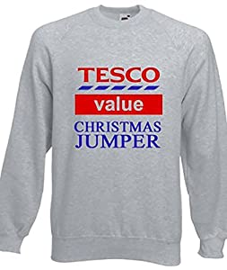 Funny Tesco's Value Christmas Jumpers Sweatshirt Gift Idea