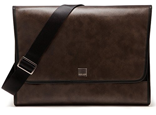 Acme Made Clutch In With Designer Coated-Canvas Exterior Notebook Shoulder Bag, Brown front-291311