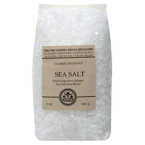 India Tree Coarse Sea Salt, 2 Pounds (Pack of 3)