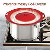 HANDY GOURMET SAFEGUARD ANTI BOIL OVER ANTI SPILL ANTI SPLASH SILICONE SAUCEPAN LID. FOR POTS 6-10in by Oxyvita Ltd