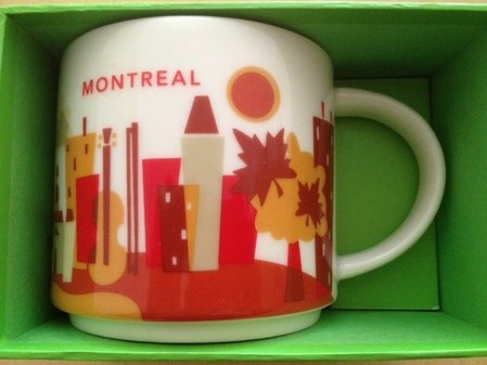 Starbucks You Are Here Montreal (Canada) Mug Brand New Release