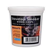 Wood Smoking Chips - 1 Pint of Mesquite Wood Chips (Fine) for Smokers - 100% Natural by Camerons Products