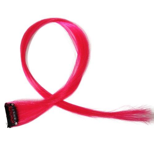"""Bunte Strähnchen 1 x Clip In Extensions 50cm (20"""") Haarverlängerung glatt langhaarHaarteil (11)"""