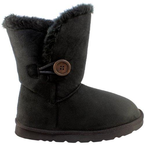 damen-schuhe-single-knopf-fell-schnee-regen-stiefel-winter-fur-boots-schwarz-38-aea0079