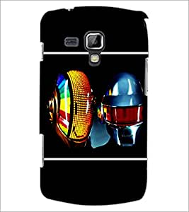 PrintDhaba MultiColour Mask D-1410 Back Case Cover for SAMSUNG GALAXY S DUOS S7562 (Multi-Coloured)