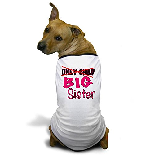 CafePress - New Big Sister Announcement Dog T-Shirt - Dog T-Shirt, Pet Clothing, Funny Dog Costume (Custom Dog Shirt compare prices)