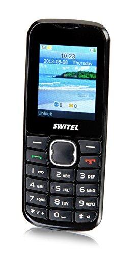 Switel M16D Roma Dual-SIM Handy (5,1 cm (2 Zoll) Display, 0,3 Megapixel Kamera, UKW Radio) schwarz