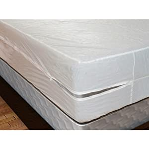 "Vinyl Mattress Cover with Zipper (6 gauge), Full, 16"" Deep"