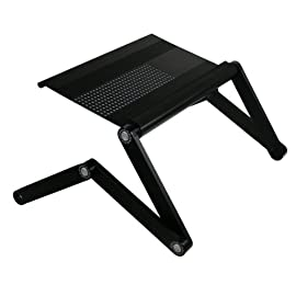 A6 Aluminum Vented AdJustable Multi-functional Laptop Desk Portable Bed Tray Book Stand Ergonomics Design Tabletop up to 17