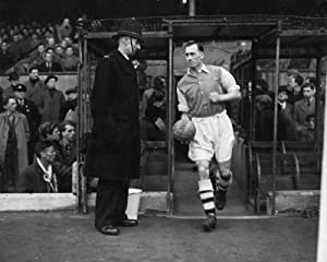 Arsenal F.C. Print Joe Mercer- collectable photograph- joe mercer- approx 25cm x 20cm- on a header card- Official Football Merchandise by Mirrors / Pictures