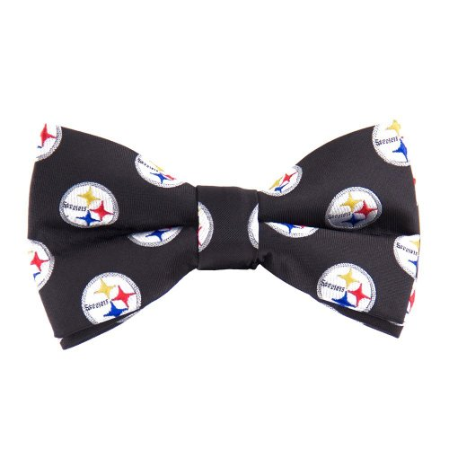NFL Pittsburgh Steelers Repeated Logo Bow Tie - Black at Steeler Mania