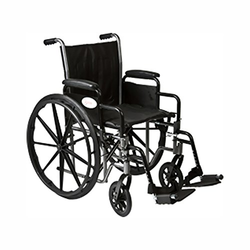 Roscoe Medical K2St1616Dhrsa K1-Lite Wheelchair Removable Desk-Length Arms Powder-Coated Silver Vein Steel