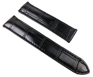 6efb85c84844c Buy Maurice Lacroix Louisiana watch strap watchband Kroko-leather for  Pontos Klemmschließe black 22283K Band