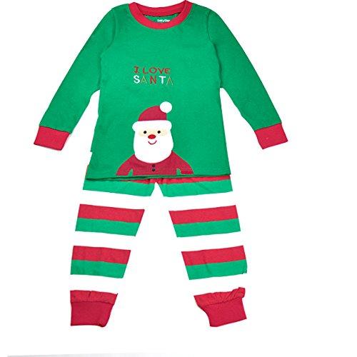 Cm-Cg Little Girls' Pajama Christmas Long Shirts & Pants Set 2 Pcs 4-5Y