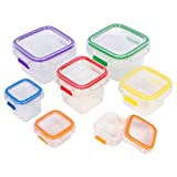 Fit Simple- 7 Piece Portion Control Containers. Store Food and Meals. 100 Percent Leak Proof. Perfect Portion Sized Containers. Comparable to 21 Day Fix. Recipes Included.