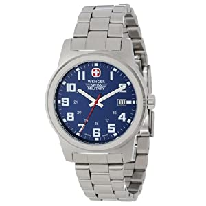 Wenger Swiss Military Men's 72908 Classic Field Blue Dial Steel Bracelet Military Watch