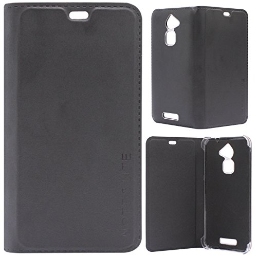 the latest f52f5 a0486 DMG Premium PU Leather Flip Cover Case for Coolpad Note 3 Lite (Black)