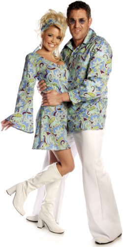 Men's Blue Groovy Disco Adult Costume