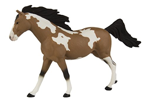 Safari Ltd Winner's Circle Collectibles - Pinto Mustang Stallion - Realistic Hand Painted Toy Figurine Model - Quality Construction from Safe and BPA Free Materials - For Ages 3 and Up
