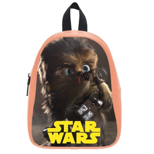LaHuo Custom Star Wars&Cute Chewbacca Logo Pupils School Bag Satchel(Medium)