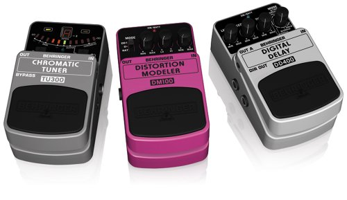 Behringer Rock And Roll Stomp Box Three Pedal Package