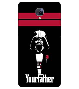 Chiraiyaa Designer Printed Premium Back Cover Case for One Plus 3 (your father danger) (Multicolor)