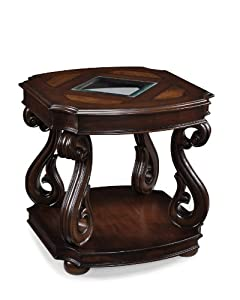 Ideal The Features Magnussen T Harcourt Cherry Finish Wood Rectangular End Table Coffee And End Tables
