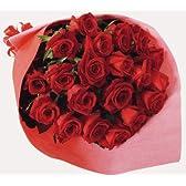 バラ花束20本 【お誕生日、各種お祝いに】【お届け日時指定可】 (赤)