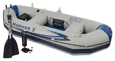 68378EP Intex Recreation Mariner Inflatable Grey 3 Boat Set