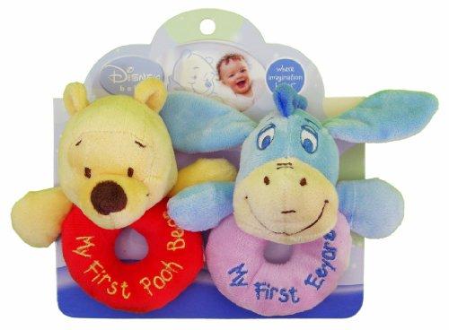 Disney Baby Plush Ring Rattles - Winnie the Pooh and Eeyore
